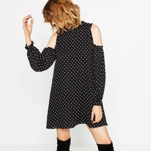 ZARA Cold Shoulder Bohemian style Dress